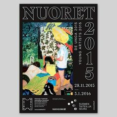 Poster for Nuoret 2015 / Young Artists 2015 group exhibition at Taidehalli