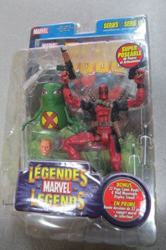 Marvel Legends: Deadpool Toybiz Series VI 6 2004 New Sealed Action Figure. Marvel Legends Deadpool, Marvel Legends Series, Deadpool Series, Deadpool Action Figure, Marvel Entertainment, Comic Page, Action Figures, Entertaining