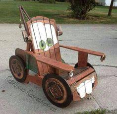 DIY Tow Truck Chair - so cute! Jon could make this!