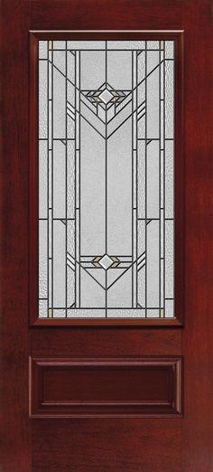 Prairie style exterior doors the finger lakes entry for Jeld wen architectural fiberglass door