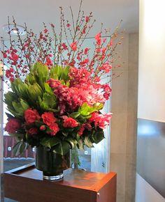 #Cherry #Blossom #Vase #Arrangement #PohoFlowers #Poho #Flowers #Home #Office