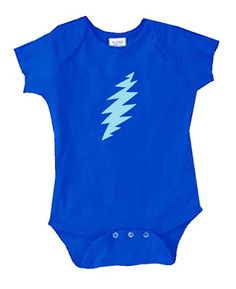 99b273bfd Grateful Dead - 13 Point Lightning Bolt Onesie Like when your little one  rocks Grateful Dead