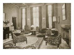 Jacques-emile Ruhlmann Lounge, 1930 (B/W Photo)
