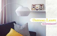 DIY: Origami-Lampe selbstgemacht, oder: Die unendliche Suche nach einer Esstisch-Lampe. Außerdem: Tipps