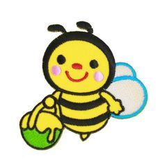 Brand-new Smiley Bee With Honey Iron On Patch For Kids Baby - High Quality -- Want to know more, visit http://www.amazon.com/gp/product/B00JV5CWOW/?tag=christmasdecor1-20&puv=230816000022