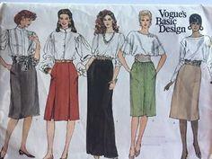 XL Vogue's Basic Design Skirt Pattern Sz 18 20 22 UNCUT and UNUSED Below Knee  | eBay