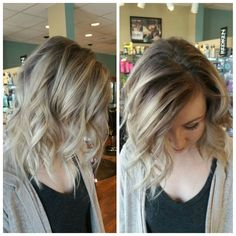 My hair! Dark ashy roots and lowlights with cool blonde throughout. #hair #cool…