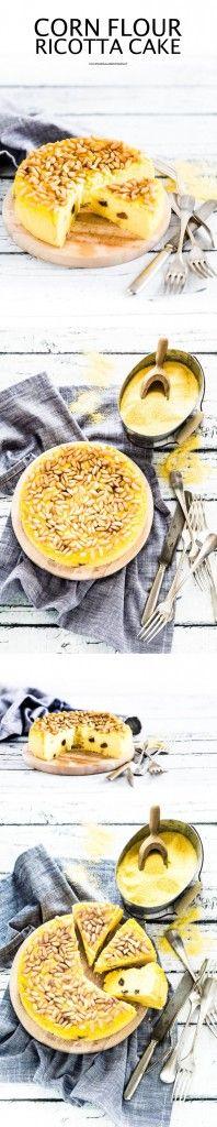 Corn flour ricotta cake - Polenta cake - Ricotta cake - Polenta ricotta  #glutenfree