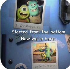 Get it? Cause monsters inc came first?