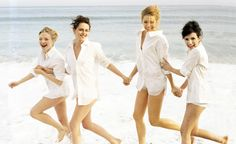 "Kristen Stewart, Blake Lively, Emma Roberts, & Amanda Seyfried at the photoshoot for Vanity Fair ""Hollywood's New Wave"""