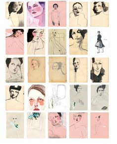 100 GIRLS ON CHEAP PAPER one hundred drawings by tina berning 35 € book order www.printkultur.de