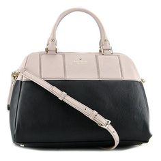 Kate Spade Summit Court Brantley Black/Mousse Frosting Satchel Handbag