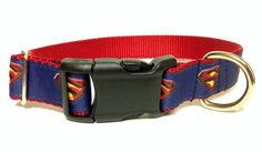 Man of Steel Inspired Dog Collar by SaintTiger on Etsy, $16.50