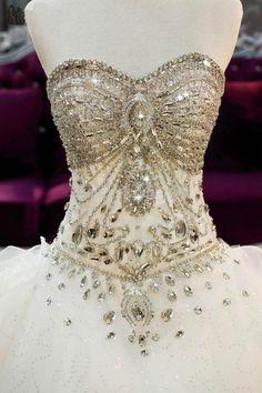 Luxurious Bling Bling Rhinestones Wedding Dresses
