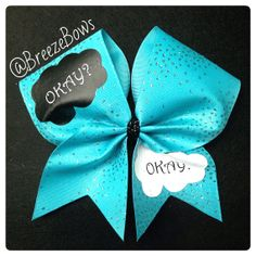 Cheer Bow The Fault In Our Stars  by BreezeBows on Etsy, $12.00