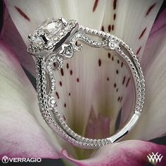 Verragio Beaded Halo Diamond Engagement Ring from the Verragio Insignia Collection. Best Engagement Rings, Halo Diamond Engagement Ring, Designer Engagement Rings, Wedding Rings, Wedding Stuff, Dream Wedding, Wedding Ideas, Diamond Settings, Diamond Are A Girls Best Friend