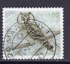 Owl postage stamp, Switserland.