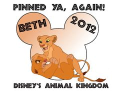 Lion King Mickey Head  Pinned Ya Again by CustomFunDesigns on Etsy, $6.00
