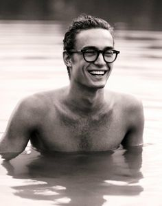 'cause everyone one loves a nice looking guy with glasses, and that smile.