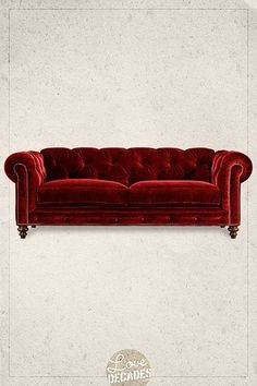 Oh my god this red chesterfield makes me swoon.  Higgins sofa in Toulouse (from Decades). I always start out wanting to buy something like this...