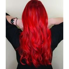Bright red hair ❤ liked on Polyvore featuring accessories, hair accessories and red hair accessories