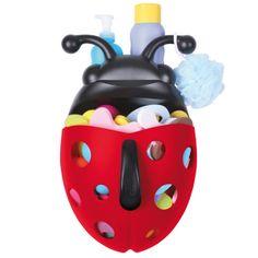 Mariquita Bug Pod.  Para la recogida, secado y almacenamiento de juguetes de baño.  http://www.elhogardelbebe.com/bano/accesorios-y-complementos/mariquita-bug-pod-detail.html