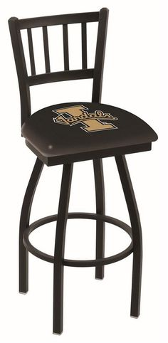 Idaho Vandals Bar Stool with Swivel Seat. This Vandals stool carries a defined Jailhouse back that doesn't just add comfort, but a unique look. The silk screening process uses specially formulated vin