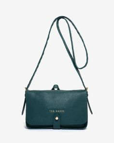 Exotic leather cross body bag - Dark Green | Bags | Ted Baker ROW