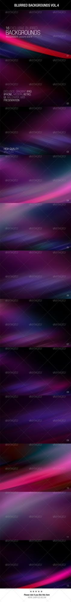 Buy Blurred Backgrounds by Wutip on GraphicRiver. Blurred Backgrounds Very usefull as wallpapers, website backgrounds, product backgrounds, UI presentations and . Creative Typography Design, Ipad, Blurred Background, Information Graphics, Iphone, Presentation, Graphic Design, Colorful, Abstract