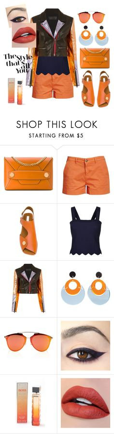 """""""Trending Bag"""" by gigiglow ❤ liked on Polyvore featuring STELLA McCARTNEY, Barbour, Sandro, Haider Ackermann, Toolally, Christian Dior and HUGO"""