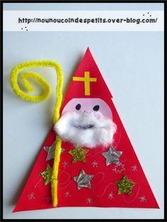 pour la st nicolas - New Ideas Christmas Arts And Crafts, Preschool Christmas, Preschool Crafts, Christmas Ornaments, St Nicholas Day, Diy Cadeau Noel, Diy And Crafts, Crafts For Kids, Christmas Printables