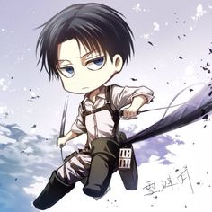 Lol chibi Levi!! Hell yes