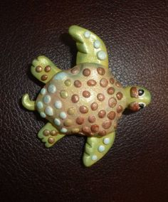 Swimming Turtle Pin by artsdaughter on Etsy Handmade Jewelry