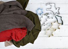 Cookie cutters aren't just for baking!  By felting my old wool sweaters and using them as templates, I made some cute Christmas ornaments.  This project cost al…