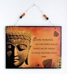 Buddha Quote Wall Hanging Sign  #Buddha # Quotes