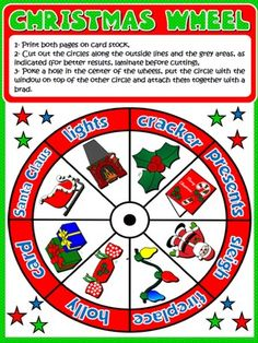 CHRISTMAS VOCABULARY WHEEL