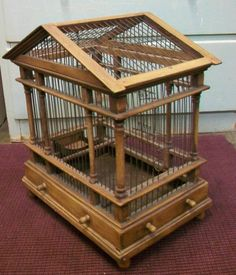 Victorian Antique Bird Cage