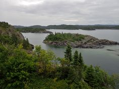 View from Manito Miikana trail, Pukaskwa National Park, Lake Superior Rainbow Falls, Lake Superior, Beautiful Paintings, Trail, National Parks, River, Outdoor, Outdoors, Outdoor Games