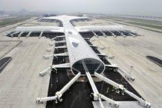Shenzhen Bao'an International Airport - Terminal 3   Studio Fuksas; Photo © Studio Fuksas   Bustler