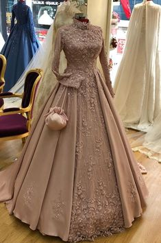 Dresses - Book ur dress now Completely stitched outfits in all colours like ✔ comment✔ share✔ tags✔ For booking ur dress plz dm or whatsapp at Muslimah Wedding Dress, Muslim Wedding Dresses, Dress Muslimah, Wedding Hijab, Gown Wedding, Fall Wedding, Wedding Ideas, Indian Wedding Gowns, Indian Gowns Dresses
