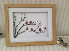 Every framed art is made by hand so no two pieces are the same, some pebbles/sea glass may be slightly different than in the photo. Each picture can be personalised with wording of you own or the one that is used in photo if any. If you would like personalisation, please Add a note to Buyer when you complete your transaction. If no message is received, it will be assumed that the frame with wording or without is required as Listed.  I aim to make up the frames usually on the day the order…