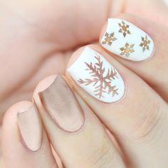 Christmas Gel Nails, Holiday Nails, Cute Nails For Fall, Nails Short, Gelish Nails, Dream Nails, Yellow Nails, Acrylic Nail Designs, Winter Nails