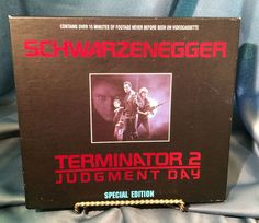 Schwarzenegger, Terminator 2 Judgment Day, Special Edition VHS Tapes, in Box #Terminator2 #JudgmentDay #VHS #ArnoldSchwarzenegger