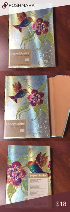Laurel Burch Hummingbird Journal Brand new blank book featuring Laurel Burch artwork called Hummingbird. Closes with magnetic flap. Has a small pocket on the inside back cover. 160 lined archival pages. Measures just under 5x7 inches. Has red ribbon bookmark. Ships in original foam envelope. The paperblanks stickers peel off easily and don't leave residue.  Please note that journals are Poshmark compliant. Please refer to the last picture, borrowed with the kind permission of @doggiegrace…