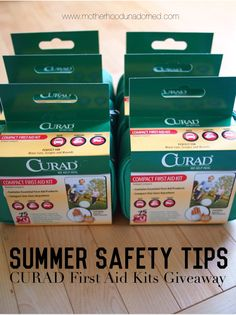 Kids Summer Safety Tips plus a giveaway of 6 first aid kits perfect for this summer's travel and activities #sponsored