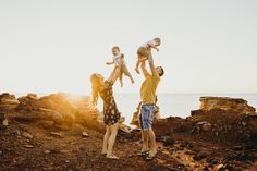 Family Photography Session at Gantheaume Point in Broome