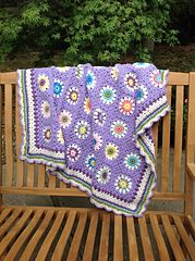 Ravelry: Suzie's Flower Blanket pattern by Mary Garrow