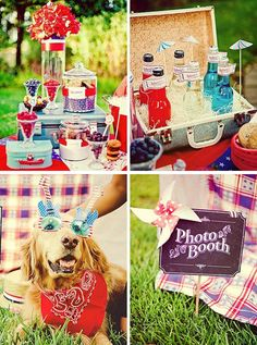 Vintage inspired 4th of July picnic.