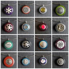 Button Pendants in jewelry accessories  with Reused Recycled pendant old Jewelry Button by recyclart.org