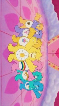 dreamlike 케어베어( Care Bears )아이폰 배경화면 : 네이버 블로그 Bedroom Wall Collage, Photo Wall Collage, Picture Wall, Cartoon Wallpaper, Bear Wallpaper, Pink Retro Wallpaper, Care Bears, Aesthetic Iphone Wallpaper, Aesthetic Wallpapers
